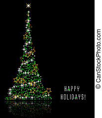 Happy Holidays - Abstract vector illustration of a christmas...