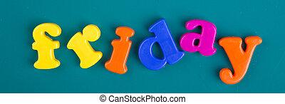 Alphabets, jour,