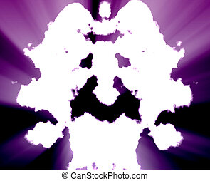 Mental health inkblot background - Psychiatric treatment...