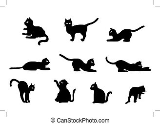 Cat Vector - Collection of Cat Vector Cute Black Cat...