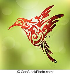 Flying bird - Vector illustration for flying hummingbird...