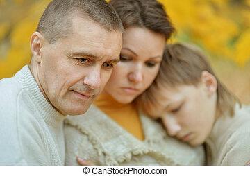 Retrato, de, Um, triste, family, ,