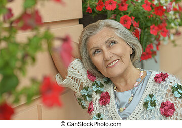 beautiful senior woman - Portrait of a beautiful senior...