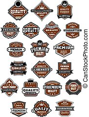 Vintage and retro wild west style labels or banners for...