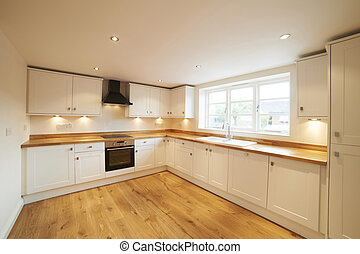 Beautiful Fitted Kitchen In Modern House