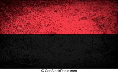 Flag of OUN-UPA with old texture Vector - Flag of ukrainian...