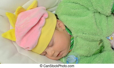 Sleeping Newborn Baby - Sleeping  Newborn Baby