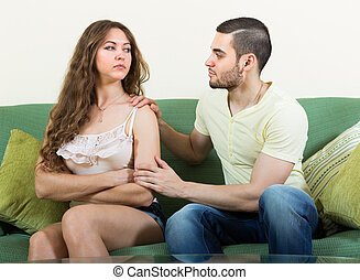 Man asking for forgivness from woman - Husband asking for...