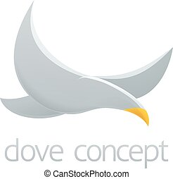 Dove concept design - An abstract illustration of a dove...