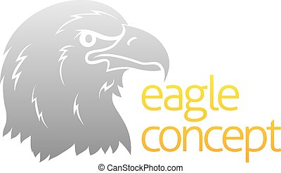 Proud eagles head - An abstract conceptual illustration of a...