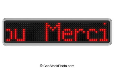 4K - Led dot display with Thank You - Red led dot display...