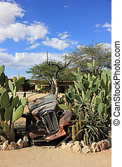 Solitaire, Namibia - Old abandoned car in the Solitaire...