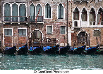 Venice - Some gondole in the Canal Grande, Venice, Italy