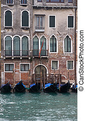 Gondole in Venice - Some gondole in the Canal grande,...
