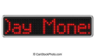 4K - Led dot display with 30-Day Mo - Red led dot display...