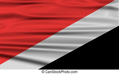 Flag of The Principality Sealand with old texture. Vector...
