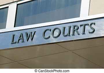 Law Courts Sign - Law courts sign positioned above the...