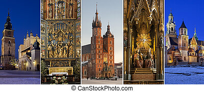 Krakow - Poland - Sightseeing in the city of Krakow in...