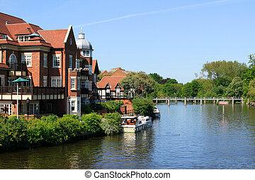 River Thames at Windsor - The River Thames at Windsor on a...