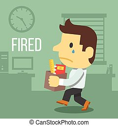 Fired office worker