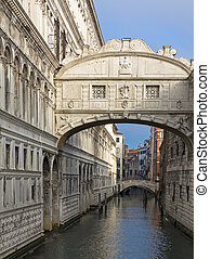 Bridge of Sighs over Rio di Palazzo between New Prison and...