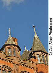 Old Spired Building in Chester England - Old Spired Building...