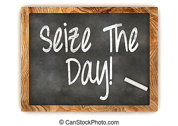 Seize the day Chalkboard - A Colourful 3d Rendered...