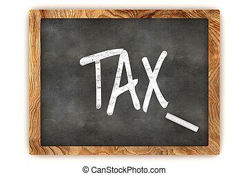Tax Chalkboard