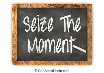 Seize the Moment Chalkboard - A Colourful 3d Rendered...