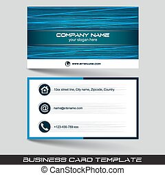 Business card template or visiting card set. Vector...