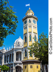 Moorish Clock Tower in Guayaquil - View of the Moorish clock...