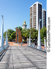 Malecon 2000 View in Guayaquil - View of the Malecon 2000 in...
