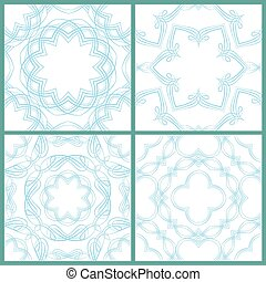 Set of seamless patterns - Guilloche ornamental Elements for Cer