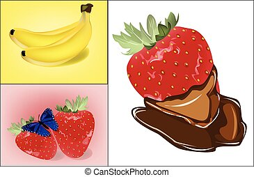 Collage of different types of fruit