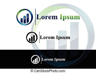 Abstract icon for use in finance an