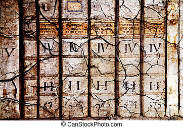 Ancient law books - Detail of ancient medieval book...
