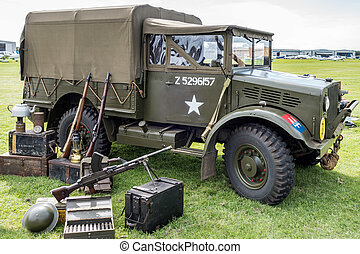 Old US Army Truck Parked at Shoreham Airfield
