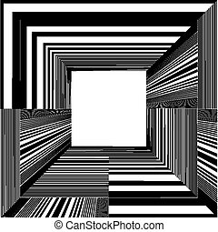 Light At The End Of Tunnel Quadrate Exit Vector
