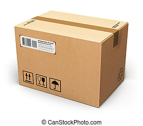 Cardboard box - Creative abstract shipping, logistics and...