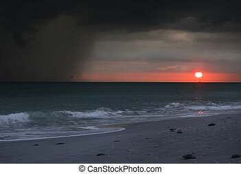 Approaching Storm at Sunset - An approaching storm at sunset...