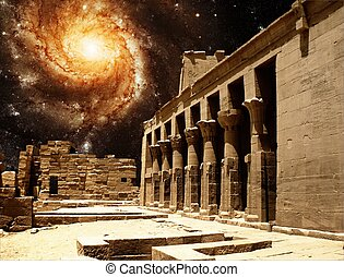 Colonnade at the Temple of Isis at Philae and the Pinwheel...