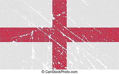 Flag of England with old texture Vector illustration