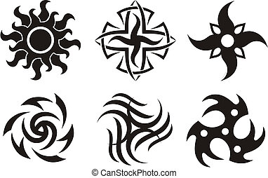 celtic star - Symbolic Celtic Sun - Tattoo Tribal Silhouette...