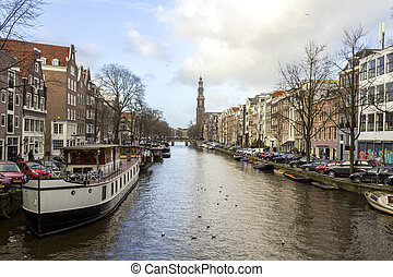 View on one of the Unesco world heritage city canals...