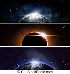 Eclipse Banners - Imaginary space and astromony banners with...