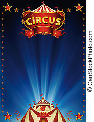 Magic_blue_circus - A beautiful circus background for your...