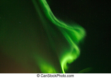 Aurora Borealis - Polar lights, photo taken in December at...
