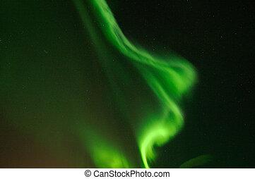 Aurora Borealis - Polar lights, photo taken in December at...