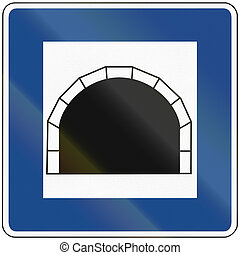 Tunnel Sign - Official german traffic sign: tunnel