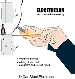 Electric - Illustration of repair of electric switch,...